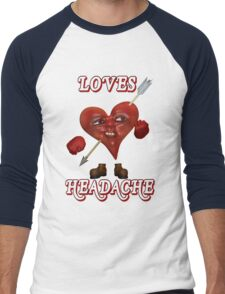 Loves Headache Men's Baseball ¾ T-Shirt