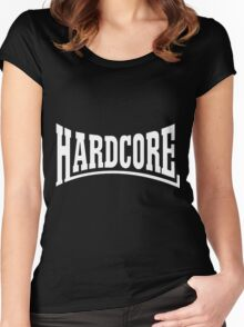 Hardcore Rulezz!!! Women's Fitted Scoop T-Shirt