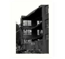 Destruction of a building....stone the crow Art Print