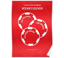 No056 My Oceans 11 minimal movie poster Poster