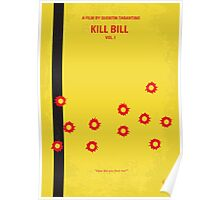No048 My Kill Bill - part 1 minimal movie poster Poster