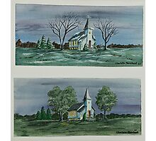 Evening Worship In Winter And Summer Photographic Print