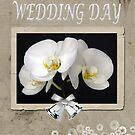 Phalaenopsis Orchid - Wedding Card by Jennifer Sumpton