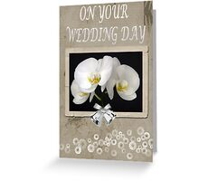 Phalaenopsis Orchid - Wedding Card Greeting Card