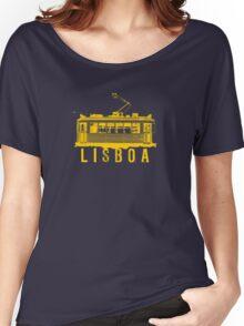 Lisboa yelow Women's Relaxed Fit T-Shirt