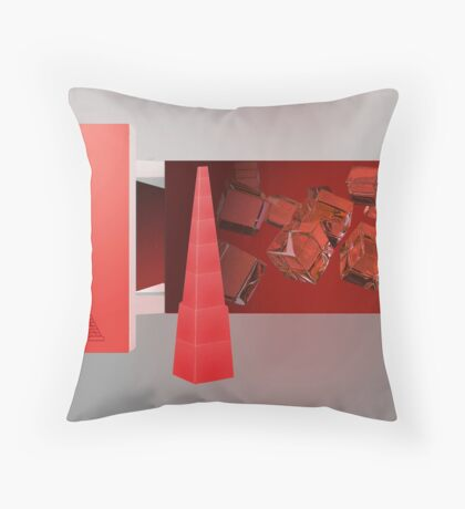 Love in Paris - the color red Throw Pillow