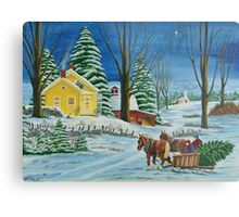 Christmas Even In The Country Metal Print