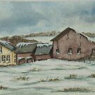 Country Farm In Winter by Charlotte  Blanchard