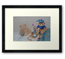 Drunk teddies Framed Print