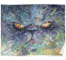 Intense Persian Cat painting Svetlana Novikova Poster