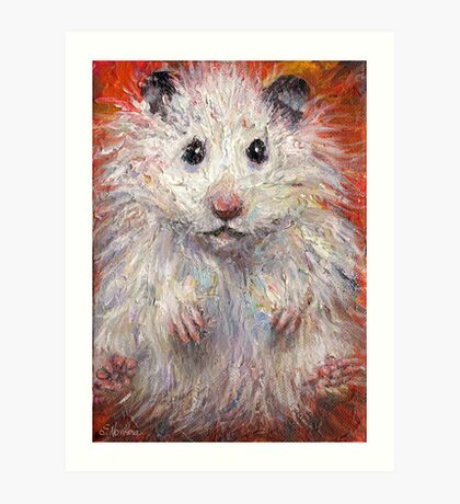 Impressionistic Hamster animal painting Svetlana Novikova Art Print