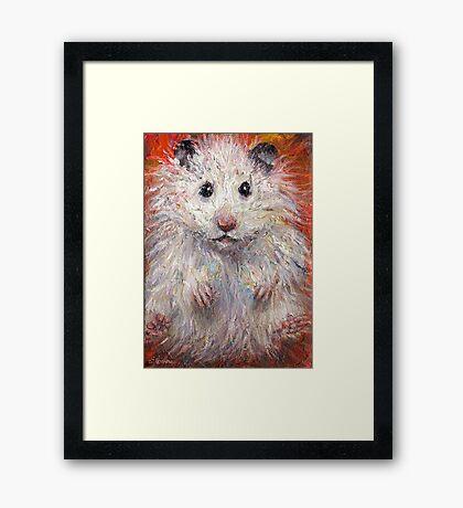 Impressionistic Hamster animal painting Svetlana Novikova Framed Print