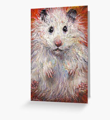 Impressionistic Hamster animal painting Svetlana Novikova Greeting Card