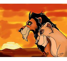 The Lion King: Scar And Zira Photographic Print