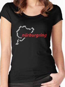 Nurburgring Germany Eurosport  shirt Women's Fitted Scoop T-Shirt