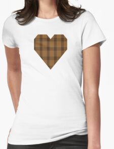 00426 Unnamed Brown (Teddy Bear) Womens Fitted T-Shirt