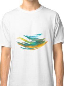 Abstract Watercolor Brush Classic T-Shirt