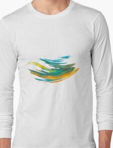 Abstract Watercolor Brush Long Sleeve T-Shirt