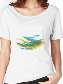 Abstract Watercolor Brush Women's Relaxed Fit T-Shirt