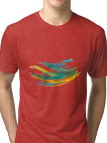 Abstract Watercolor Brush Tri-blend T-Shirt