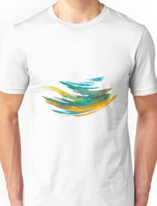 Abstract Watercolor Brush Unisex T-Shirt