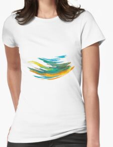 Abstract Watercolor Brush Womens Fitted T-Shirt