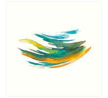 Abstract Watercolor Brush Art Print