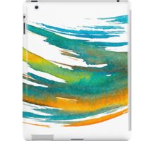 Abstract Watercolor Brush iPad Case/Skin