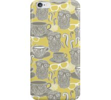 Tea owl yellow. iPhone Case/Skin
