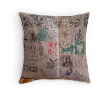 Inside the day planner..having fun Throw Pillow