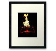 Taking Heat Framed Print
