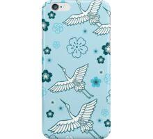 Japanese blue Ciconia bird iPhone Case/Skin