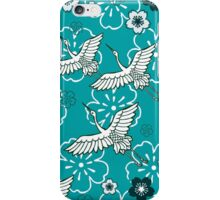 Japanese Turquoise Ciconia bird iPhone Case/Skin