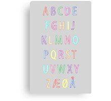 Alphabet I Canvas Print