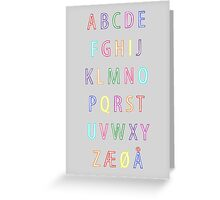 Alphabet I Greeting Card