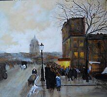 Boulevard Henri IV, Sunset from Luigi Loir by Jsimone