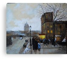 Boulevard Henri IV, Sunset from Luigi Loir Canvas Print