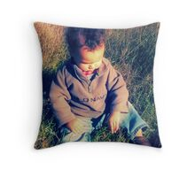 tell me your dreams, little boy Throw Pillow