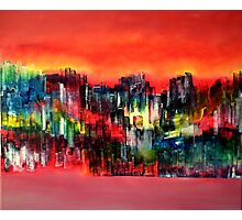 City of colours and lights Photographic Print