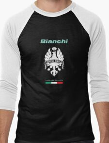 bianchi passione celeste cycle shirt Men's Baseball ¾ T-Shirt