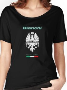bianchi passione celeste cycle shirt Women's Relaxed Fit T-Shirt