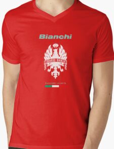 bianchi passione celeste cycle shirt Mens V-Neck T-Shirt