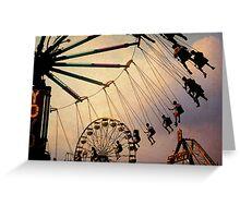 Swing Ride Greeting Card