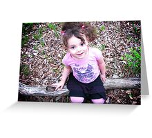 Full of curls and smiles Greeting Card