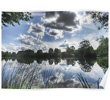 Clouds over the river Mreznica Poster