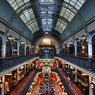 Queen Victoria Building Vertical View by Malcolm Katon