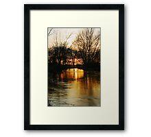 Sunset On The River Stour Framed Print