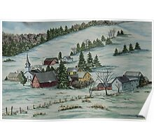 Winter In East Chatham Vermont Poster