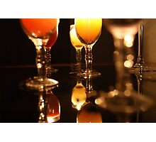 Wine Glasses & Candle Light 6 Photographic Print