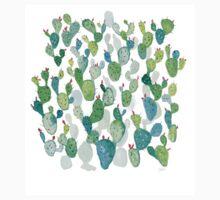Green Watercolour Cacti Garden Kids Tee